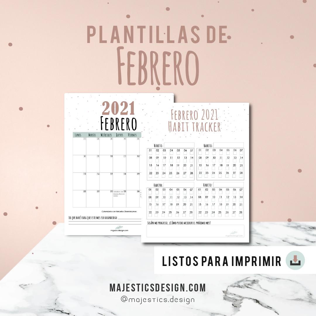 Plantillas Febrero 2021